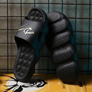 Men's Summer Slides Flops Male Platform Beach Slippers Men Non-Slip Sandals