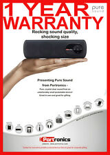 Portronics Portable Pure Sound Speaker+FM RADIO+USB(PEN DRIVE)+AUX IN+MICRO SD