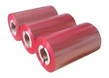 "ZEBRA COMPATIBLE RED RESIN Ribbon 64MM X 70M 1/2"" core 6 PACK TLP2844"