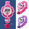 Children Girl Flower Digital Wrist Watch Cute Lovely for Kids as Gift New UK