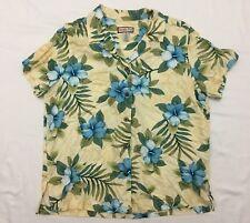 Jamaica Bay Womens Hawaiian Shirt Size XL Discover Paradise Hawaiian Floral