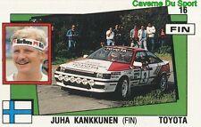 016 JUHA KANKKUNEN FINLAND TOYOTA STICKER SUPERSPORT 1988 PANINI RARE & NEW