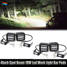 4x 18W 12V 24V LED Work Light spot Lamp FIT Tractor Truck SUV ATV Offroad