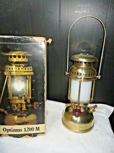 vintage optimus 1200 pressure lantern   messing in box