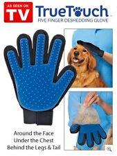 Massage Glove True Touch Deshedding Gentle Efficient Pet Grooming Dogs Cats Bath
