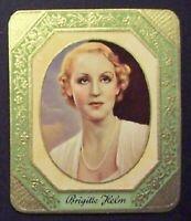 Brigitte Helm 1934 Garbaty Film Star Series 1 Embossed Cigarette Card #4