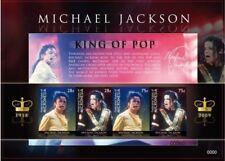 Micronesia- Michael Jackson in Memoriam 1958- 2009 Sheet of 4 MNH