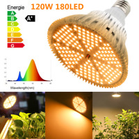 120W LED Plant Grow Light Growing Lights Bulbs Indoor E27/E26  Hydroponics Bulbs