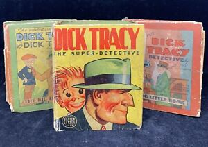 lot of 3 1930s DICK TRACY AND DICK TRACY JR. Super-Detective Adv Big Little Book