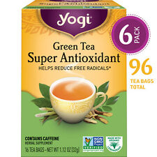 Yogi Tea - Green Tea Super Antioxidant - 6 Pack, 96 Tea Bags Total