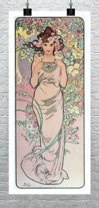 Slumber Alphonse Mucha Art Nouveau Rolled Canvas Giclee Print 24x32 in.