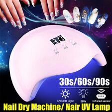 36W Macchina Lampada UV Luce 12 LED per Smalto per Unghie Gel Asciugatura USB