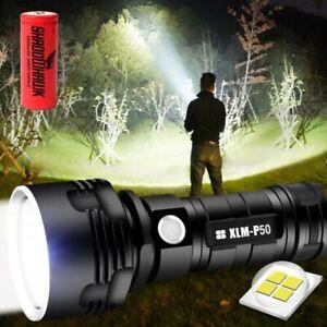 Shadowhawk Super-bright 90000lm Flashlight CREE LED P50 Tactical Torch +battery