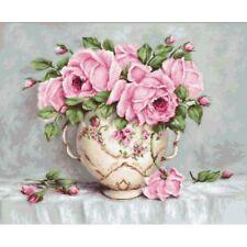 Cross Stitch Kit Pink roses Luca-S Point de croix Punto de cruz