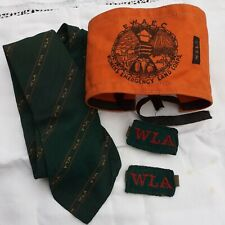 More details for wla womens land army original  green tootal tie plus arm band   and felt badges