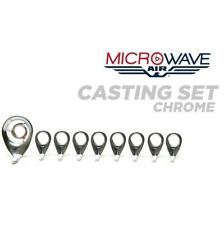 Aw-Set-C American Tackle Airwave Slim Ring Line Control Casting Guide Set Chrome