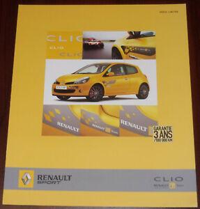 brochure dépliant 2007 RENAULT CLIO RS F1 TEAM R27 !!! __ en français __________