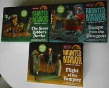 Lot of 3 Haunted Manor styrene model kit Polar Lights mansion Vampire Dungeon