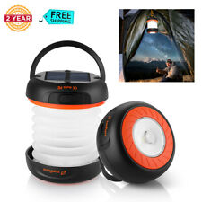 Portable Outdoor LED Solar Camping Lantern Lamp USB Rechargeable Light Torch NEW