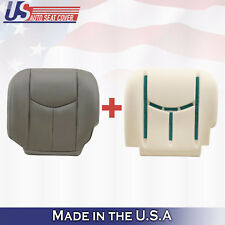 2005 2006 Chevy Avalanche 1500 DRIVER Bottom LEATHER Cover & Foam Cushion GRAY