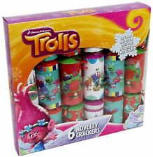 Buy christmas crackers ebay box of 6 dreamworks trolls novelty christmas party crackers solutioingenieria Image collections