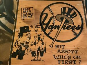 New York Yankees Abbott & Costello Harry Glaubach Original Artwork
