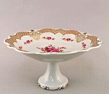 99840768 Porcelana Plato para Tartas Centro de Mesa Bol Wallendorf Rosas Dorada