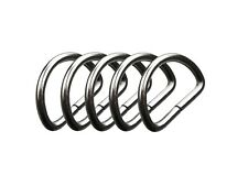 IstaTools® D-Ringe in Messing nickelfrei rostfrei Halbrund Ring Halbrunde D-Ring