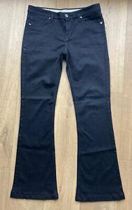 "KAREN MILLEN Ladies Black Denim Jeans UK 12 EUR 40 US 8 L31"" Bootcut Designer"