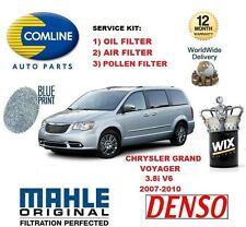 FOR CHRYSLER GRAND VOYAGER 3.8 MPV 2007-2010 OIL AIR POLLEN FILTER SERVICE KIT