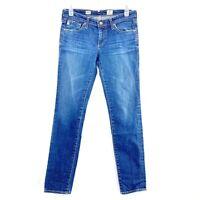 AG Adriano Goldschmied 27R Jeans The Stilt Cigarette Skinny Stretch Medium Wash