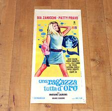 UNA RAGAZZA TUTTA D'ORO locandina poster Iva Zanicchi Patti Pravo Caselli H79