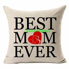 1 x cushion cover best mum ever pillow case mothers day christmas gift cotton