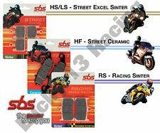 SBS HF ceramic front road brake pads to fit Kymco Xciting 400 i ABS 14 15