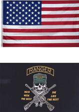 New listing 3x5 Usa Flag American Flag Army Ranger Flag Gift Set Premium 2 Flag Set