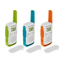 Motorola Talkabout T110TP Two-Way Radio, 16 Mile, 3 Pack, Green/Orange/Red
