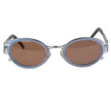 Authentic Jean Paul Gaultier Rare Vintage Silver Oval Sunglasses Mod. 58-6202