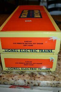 Lionel 027 Gauge 6-65167 & 65168 042 LH & RH Remote Switch With Modification