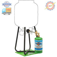 Flame King Refillable 1 lb Empty Propane Cylinder Tank - with Refill Kit and CGA