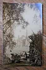 Original Old Photograph - Garden Vista with Old City in Background (Location?)