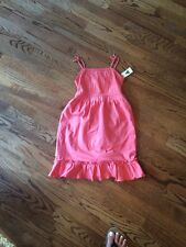 GAP 5 yr NWT Tiered Sun Dress Summer New Peachy Coral Pink Tie