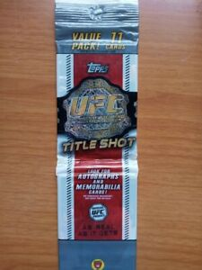 2011 Topps 2 UNOPENED ufc title shot packS! Autographs and Memorabilia cards!
