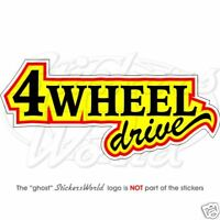 4 WHEEL DRIVE 4X4 Off Road 24cm - Vinyl Sticker, Decal