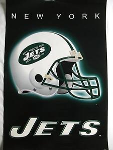 NFL AMERICAN FOOTBALL NEW YORK JETS TEAM HELMET POSTER 86CM X 56CM