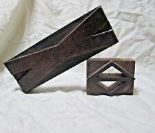 Vintage Carved Wood Printers Letters - Lot of 2