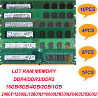 Lot Samsung 16GB 8GB 4GB 2GB 1GB DDR4/DDR3/DDR2 12800 Desktop Memory RAM 240PIN