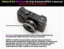 24mm F/3.5 UV lens for Fuji X (X-mount) APS-C cameras! Ultraviolet photography!