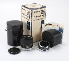 50MM 50/3.5 CANON MACRO FD S.S.C. (LIGHT HAZE, DEBRIS), BOXED/197584