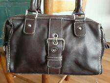 Roots Genuine Soft Leather Handbag Purse Shoulder Bag