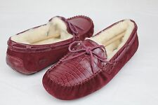 UGG DAKOTA CROCO LEATHER SUEDE LONELY HEARTS COLOR SLIPPER SIZE 9 US